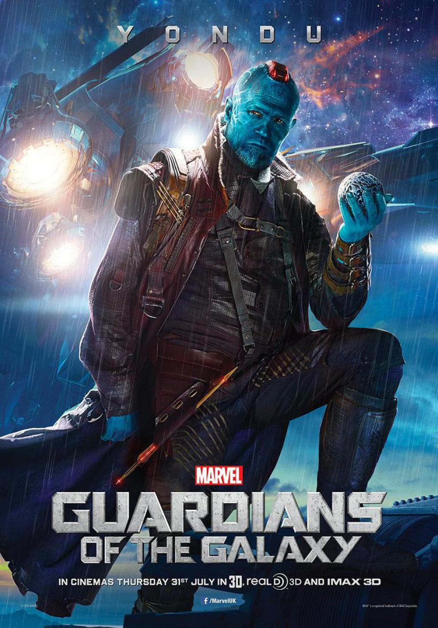 Michael rooker as yondu in guardians of the galaxy poster