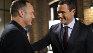"""MARVEL'S AGENTS OF S.H.I.E.L.D. - """"Meet the New Boss"""" - Daisy goes to battle Ghost Rider at a terrible cost, and Coulson faces the new Director, and his bold agenda surprises them all, on """"Marvel's Agents of S.H.I.E.L.D.,"""" TUESDAY, SEPTEMBER 27 (10:00-11:00 p.m. EDT), on the ABC Television Network. (ABC/Jennifer Clasen) CLARK GREGG, JASON O'MARA"""